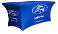 Wholesale Custom printed spandex table covers trade show tablecloth ft table clothes with print your logo