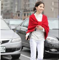 Wholesale Autumn Winter New Fashion Joker Women s Scarves Han edition Celebrities V neck Bowknot Woolen yarn Keep warm Shawls