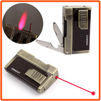 Wholesale Honest Jet Flame Butane Gas Cigarette Cigar Windproof Lighter W Laser Pointer Box