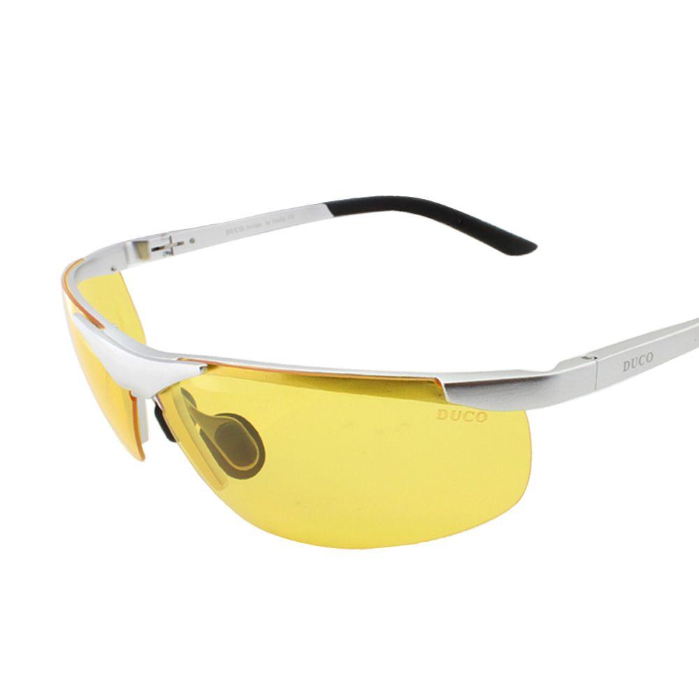 oakley night vision glasses  duco night vision glasses anti glare driving eyewear al mg alloy frame polarized glasses men's