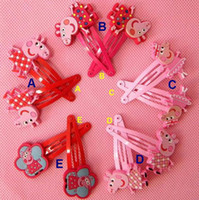 Wholesale 50pcs Baby BB clips girls hairpins Children Hair clips silicone Headwear cute cartoon Peppa pig doll girls hair accessories