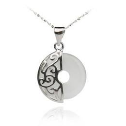 Venta al por mayor Joyería fina colgante de plata Garantizado 100% sólido 925 plata de ley con piedra de ópalo blanco PW2038