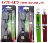 МТ3 EVOD Эго Starter Kit Электронная сигарета E комплекты Cig комплекты E сигареты блистерная упаковка 900mAh Ассорти цвета 10шт