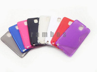 Wholesale Cell Phone TPU Case with S Line Wave Style Back Cover for Samsung Galaxy Note N9000