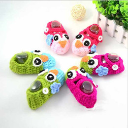 Wholesale Crochet Baby Shoes Owl crochet Handknitting baby Shoes booties knit soft T multistyles can choose