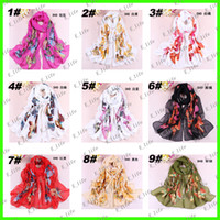 Wholesale 2013 Newest Style colors Scarf Sarongs Brisk Butterfly Pattern Scarves Chiffon Printed Scarfs