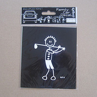 Wholesale Interesting Family Stickers Golf Man