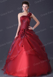 Wholesale Elegant Wedding Bridal Dress Ball Gowns Taffeta Chiffon And Stain CL2514