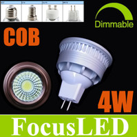 4W 4w led mr16 - Newest Christmas COB W LM LED Spotlights Warm Cool Nature White K LED Cabinet Lamps V V Bronze Silver GU10 E27 MR16 E14