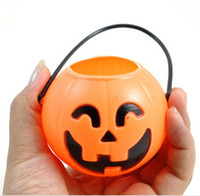 Wholesale 2015 Halloween Pumpkin Lantern S M L sizes Pumpkin Bucket kids masquerade party costumes accessories toys