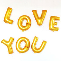 Wholesale Small cm Aluminum Letter Balloon Foil Balloon Letters Birthday Balloons Silver and Gold BP01