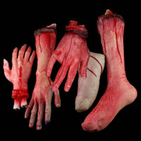 Wholesale Halloween props haunted house decorations realistic horror toys Simulation blood broken Limb finger Leg foot hand arm
