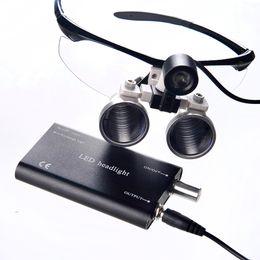 Wholesale Hot selling LED HeadLight Lamp Dental Surgical Medical Binocular Magnifier Loupes Black color for Dentist