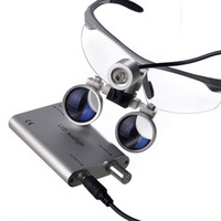 Wholesale Hot selling LED HeadLight Lamp Dental Surgical Medical Binocular Magnifier Loupes Silvery color for Dentist