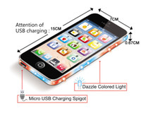 Wholesale Y phone Toy With Light Micro USB Charging Spigot toy phone English learning machine educational toys for kids