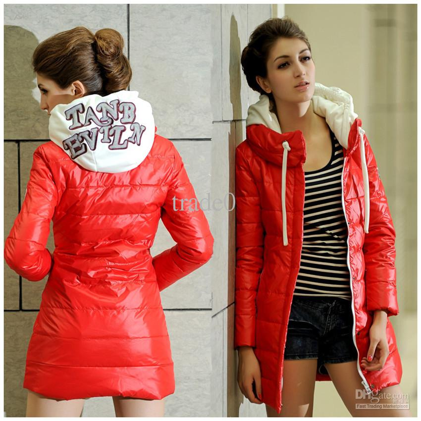 New 2013 Down Coats Warm Winter Coat Red Women'S Outwear Cotton ...