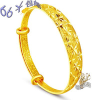 pure gold - Eventually becoming pure alluvial gold bracelet gold plated bracelet fade K brides bracelet high