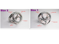 Wholesale 2013 NEW STYLE Holes Male Delay Toys Steel Chastity Cock Rings Two Size Can Chose Metal FETISH Delayed Ejaculating Ring A530