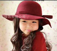 Girl Spring / Autumn Fedora Kids Top Hat Fashion Bowknot Princess Hats Cowboy Hat Beanie Hat Caps Bucket Hat Sun Hat Children Caps Girls Hats Kids Hat Cute Casual Hats