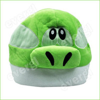 Teddy Bear White Plush Nintendo Super Mario Bros Brothers Character Anime Cosplay Yoshi Plush Cap Hat