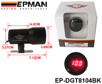 Wholesale EPMAN mm MICRO DIGITAL SMOKED OIL PRESSURE GAUGE UNIVERSAL CYLINDER ENGINES Black EP DGT8104BK