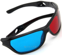 Wholesale Red amp Blue D Glasses Viewer Plastic Frame Resin Lens Dimensional Anaglyphic Digital Video Glasses
