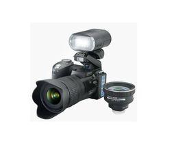Wholesale 2016 New Baoda D X Optical Zoom Million Pixel Professional SLR Camera HD Camera Plus LED Headlamps Bag Digital Camera