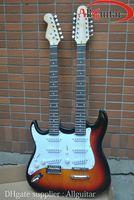 Solid Body 12 strings basswood Left handed Double Neck 12 Strings Guitar Vintage Sunburst ST & TL Lefty Electric Guitar China Guitar