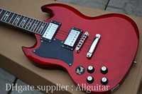 Solid Body 6 Strings mahogany Left handed SG Red Electric Guitar China Guitar