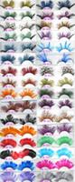 Salut-qualité Coloré Mode plume cils faits à la main faux cils Party Gorgeous Exaggeration Eyelash étape Maquillage mélange commande