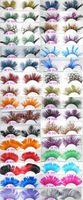 Vente en gros 100 paires / lot coloré de la mode plumes cils faits à la main faux cils partie magnifiques exagération cils maquillage scène 32 styles