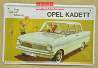Wholesale Metal painting vintage tiepai car s decorative oil painting of opel