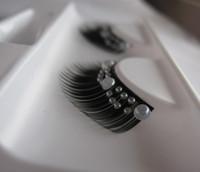 Mode cils faits à la main avec faux cils artificiels Faux maquillage exagération stade fête de mariage