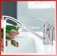 Basin Faucets 06D1557  Free Shipping Modern Style Chrome Single Lever Kitchen Bathroom Sink Basin Faucet Mixer Tap