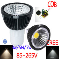 HOT sale CREE MR16 GU10 E14 E27 GU5. 3 1*3W COB dimmable LED ...