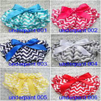 Wholesale Girls underpants bloomers TUTU Stripe Bow Petti Hot Fashion Toddler baby wear Newborn underwear