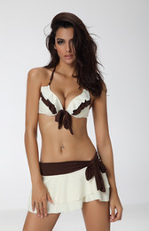 Wholesale Ivory White brown Bikini Skirt Swimsuit swimwear PC size S M L XL XL