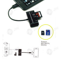Data Cable Adapter For Apple  3 in 1 Micro Usb Hub Card Reader Otg Smart Phone Keyboard Mouse for Samsung Galaxy S2 S3 Note 50pcs lot