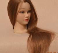 Wholesale Soft Plastic New Female Mannequin Training Head More Hair Pretty Girl Face Golden Hair