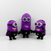 Wholesale EMS New fashion cartoon figures Despicable me purple plastic hand done poisoning minion doll Jorge Stewart Dave toys