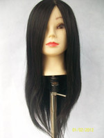 Wholesale Cosmetology Mannequin Training Head with Black Hair with Table Clamp Holder