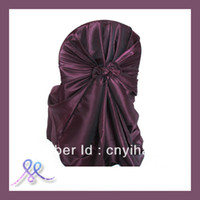 Cheap Wedding Chair satin chair cover Best 100% Polyester plain dyed wedding chair cover