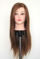 Wholesale New Arrival Female Mannequin Head With Golden Hair For Hairdressing Training Practice Model Head
