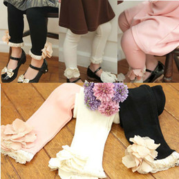 Wholesale Children Leggings Tights Kids Trouser Skinny Pants Child Clothing Girls Cute Lace Tights Fashion Princess Leggings Girl Clothes