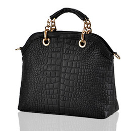 Wholesale 2013 HOT high quality brand Crocodile composite genuine cow leather organizer bag for women business work chain big bag