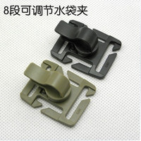 Wholesale 10PCS Plastic Buckle Rotating Sternum Strap Tube Pipe Hose Clip Holder For Drinking Straw Hydration Pack Camp Hiking