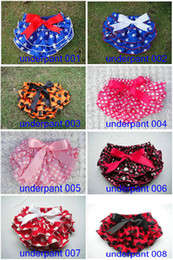 Wholesale Baby Minnie Polka dots bloomers girl Briefs underwear TUTU PP pants bloomers Ruffles dots pp pants kids toddler underwear clothing