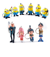 air figure - 10 set Despicable ME Movie Figure Toy key ring Minion Jorge Stewart Dave cartoon pendant keychain free air mail