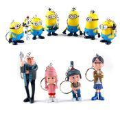 10 pcs set Despicable ME 2 Movie Figure Toy key ring Minion ...