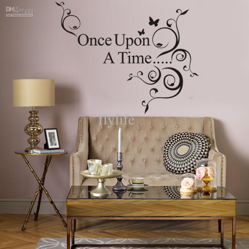 once upon a time black vinyl wall lettering stickers